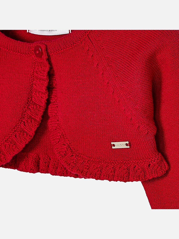 Cherry 0307 Mayoral Basic Knit Short Cardigan for Baby-Girls