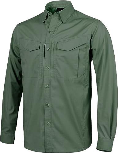 Helikon Hombre Defender Mk2 Manga Larga Camiseta Verde Oliva: Amazon.es: Ropa y accesorios