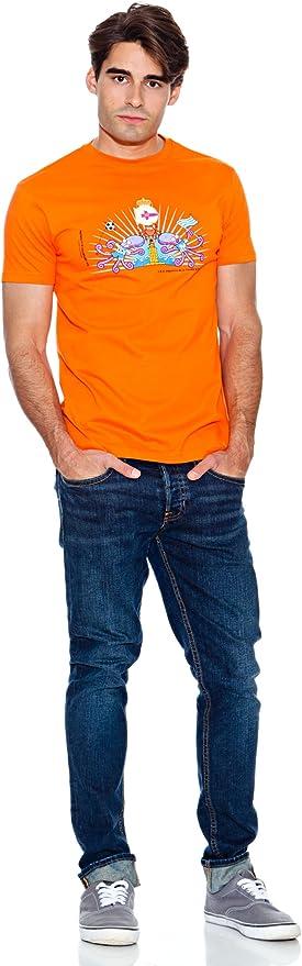 Kukuxumusu Camiseta Dep. Coruña Naranja L: Amazon.es: Ropa y ...