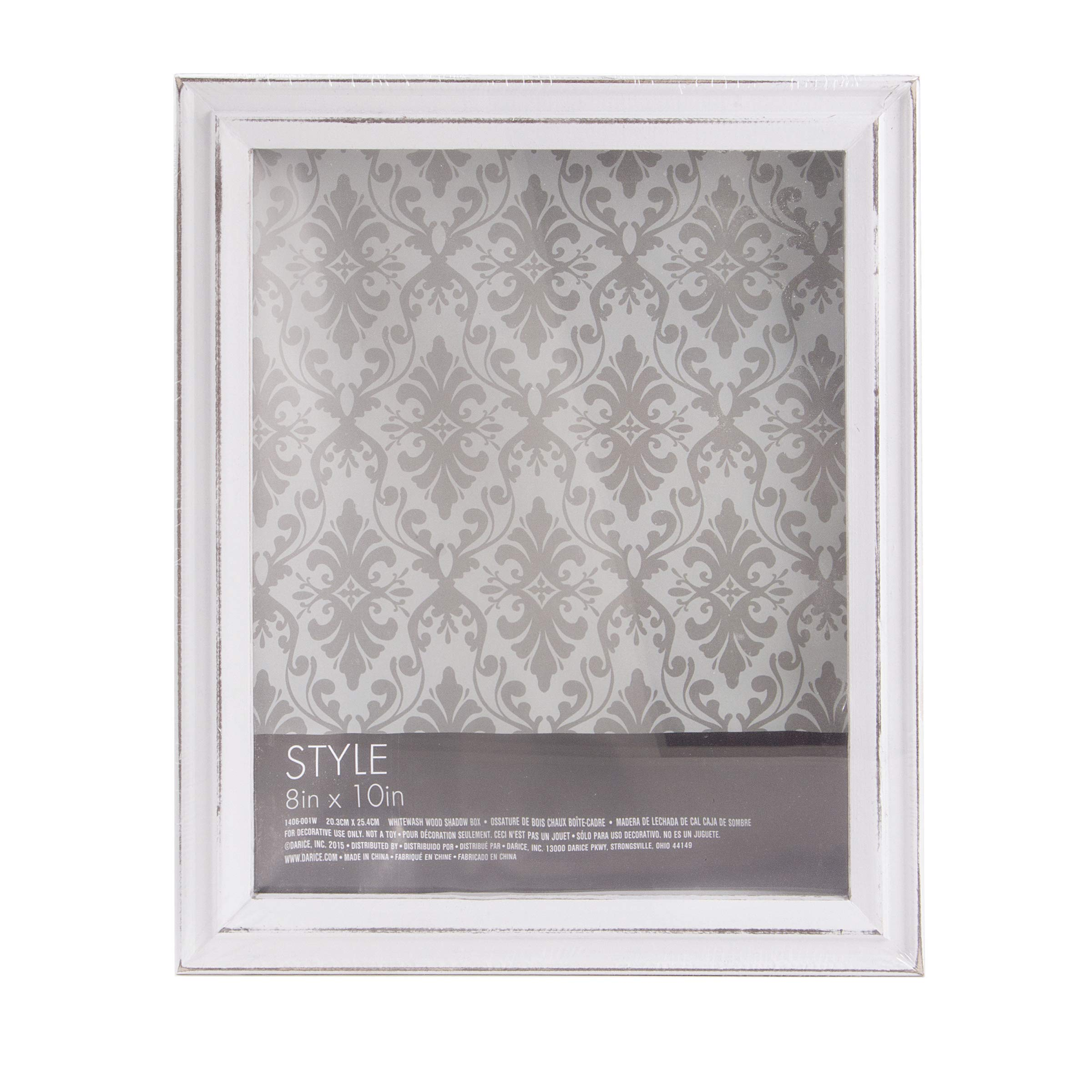 Darice White Shadow Box Frame: Whitewashed Wood, 8 x 10 inches by Darice