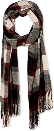Women Men Cashmere Feel Stripes Plaid Houndstooth Paisley Winter Scarves Scarf
