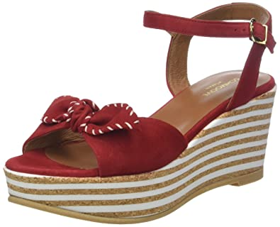 Womens Ariel Ankle Kid Suede Platform Sandals Schmoove lcDB7i