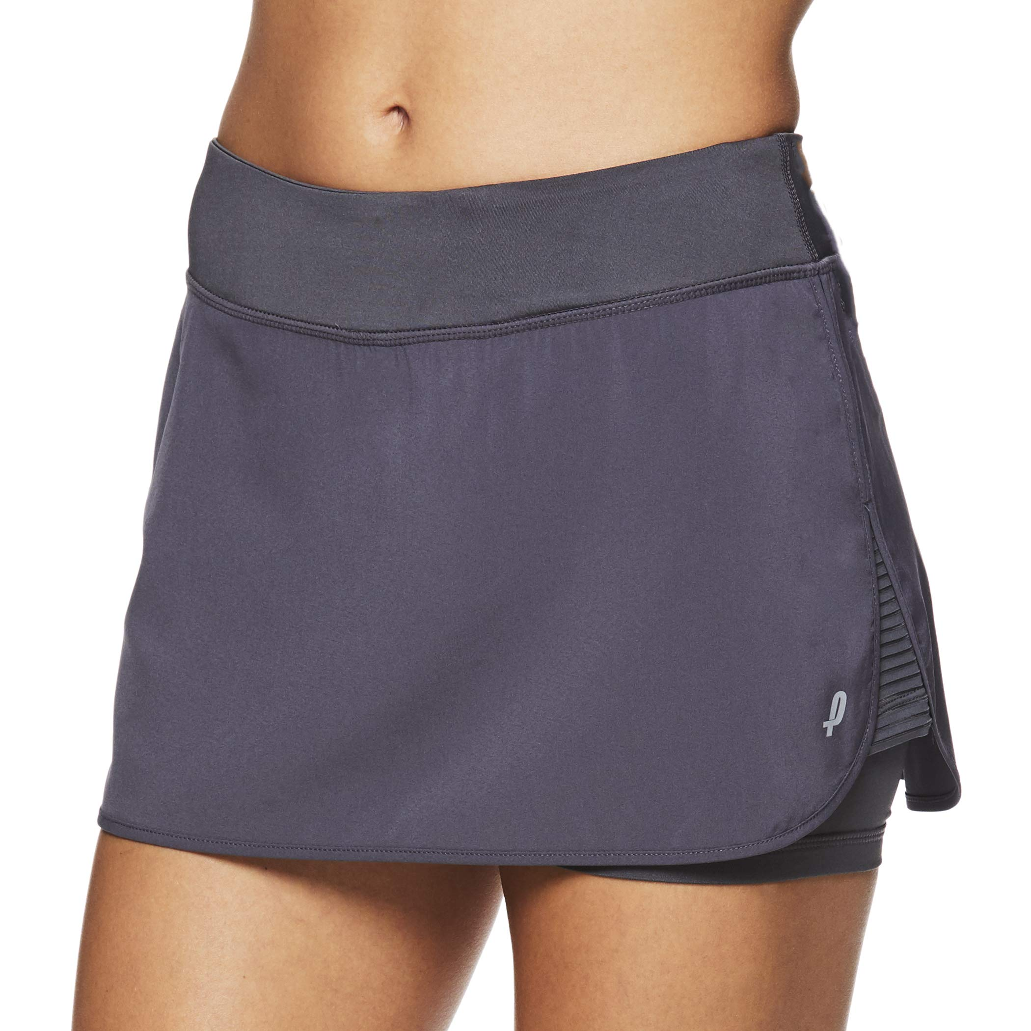 Penn Women's Spike Athletic Mini Skort for Performance Training Tennis Golf & Running - Medium Grey, X-Small