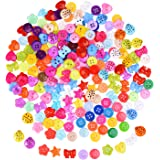 200 Pieces Resin Buttons Assorted Color Button Small Buttons Lot for Sewing Craft Scrapbooking and DIY Handmade Ornament