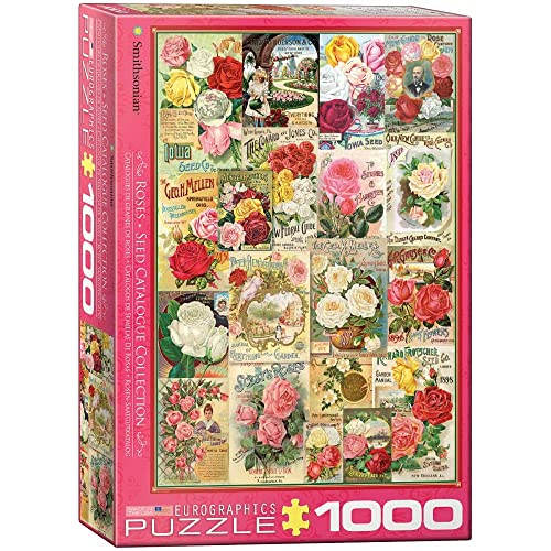 Eurographics Catalogue de graines de roses (Puzzle 1000p, multicolore)
