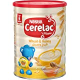 Nestle Cerelac Infant Cereal Wheat & Honey Tin, 1kg-Promo Pack