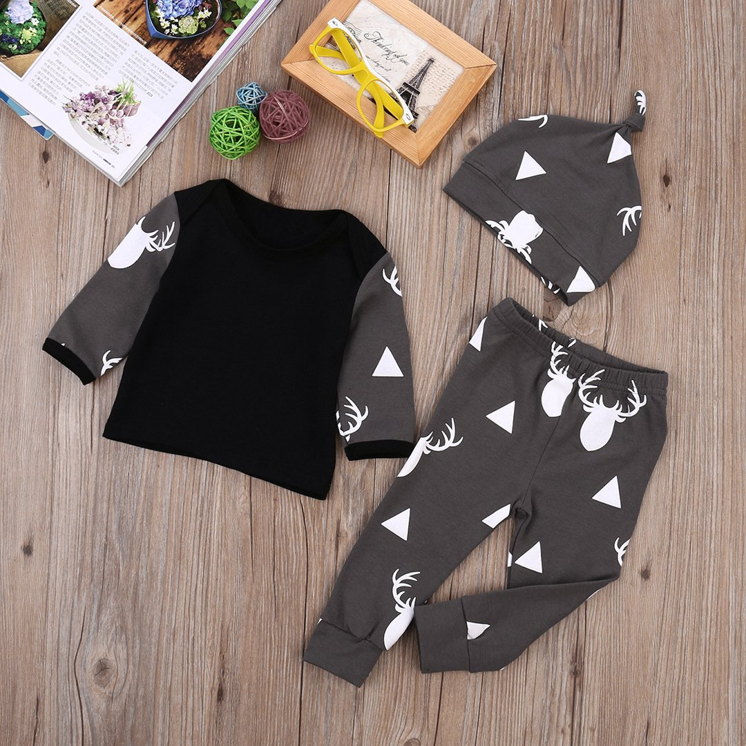 9f3d3e0ee Qin.Orianna Baby Boy 3Pcs Outfit Set