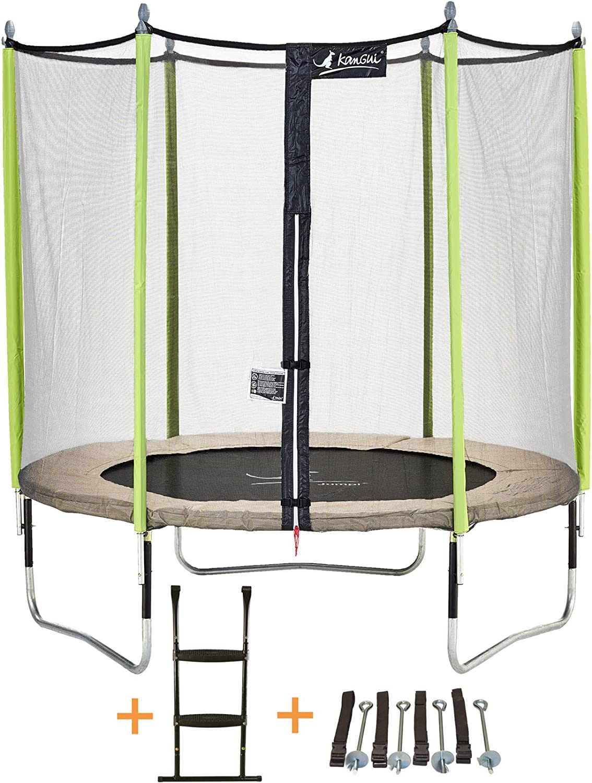 /Échelle /Ø 250-305 Kit dancrage Filet 360-430 cm Kangui Trampoline de Jardin JUMPI Zen