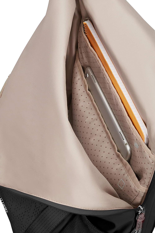 Black 42 cm Roll Top Laptop Sac /à Dos SAMSONITE 2WM Lady 112946//1041 16 L Noir