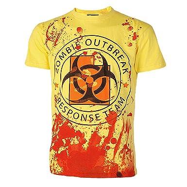 "Darkside Clothing UK Mens Zombie Outbreak Response Team T-Shirt S 38"" ..."