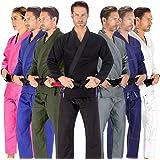 Elite Sports BJJ GI for Men IBJJF Kimono BJJ Jiu Jitsu Lightweight GIS W/Preshrunk Fabric & Free Belt