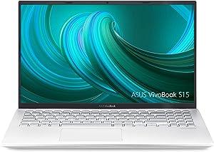 "Asus Vivobook S15 S512 Thin and Light 15.6"" FHD, Intel Core I5-8265U CPU, 8GB RAM, 256GB PCIe Nvme SSD, NVIDIA GeForce MX250, Windows 10 Home, S512FL-PB52, Silver-Metal (Renewed)"