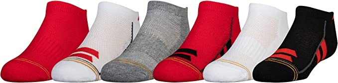 Assorted Colors Gold Toe Big Boys/' Athletic Crew Socks 6 Pairs