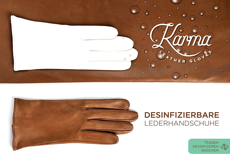 Gro/ße Wahl der Farbe und Gr/ö/ße Desinfizierbar und Waschbar Handschuhe Herren Leder Wasserdicht Klassischer Schnitt ohne innenfutter f/ür Sommer Winddicht Atmungsaktiv