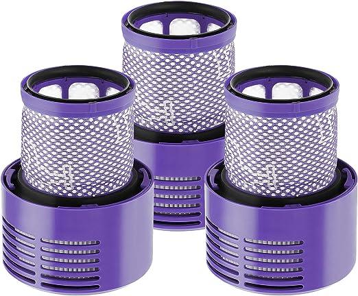 Isinlive - 3 filtros de repuesto para aspiradora Dyson V10 Series ...