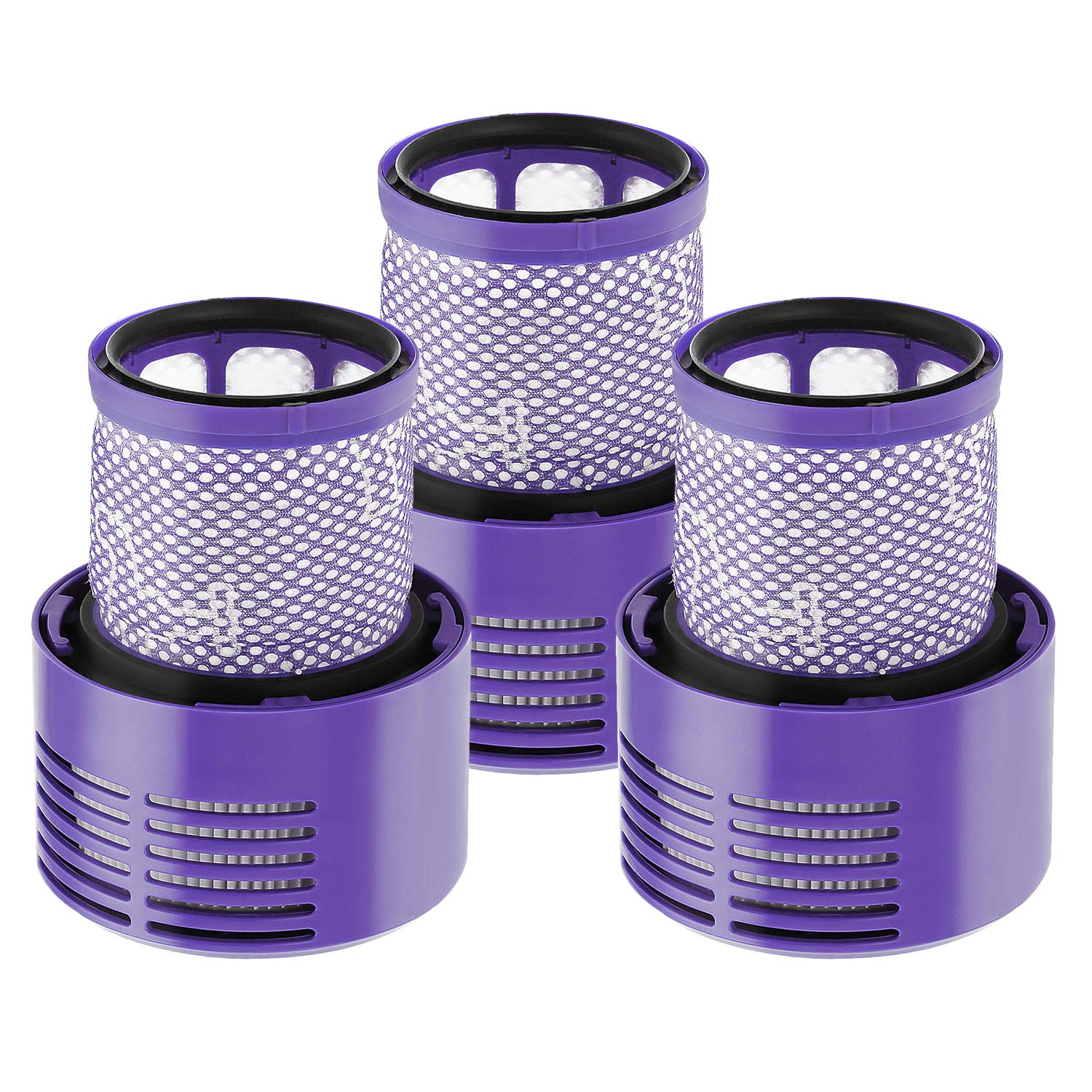 isinlive 3 Pack Vacuum Filter Replacement for Dyson V10 Series, Replaces Part # 969082-01, Compatible Dyson Cyclone V10 Absolute Animal Motorhead Total Clean