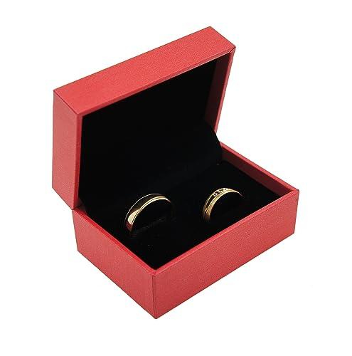 Anillo Alianzas De Funda ehringe Caja de alta calidad anillo de caja Caja para anillo de boda anillos de compromiso/San Valentín/rojo Rose