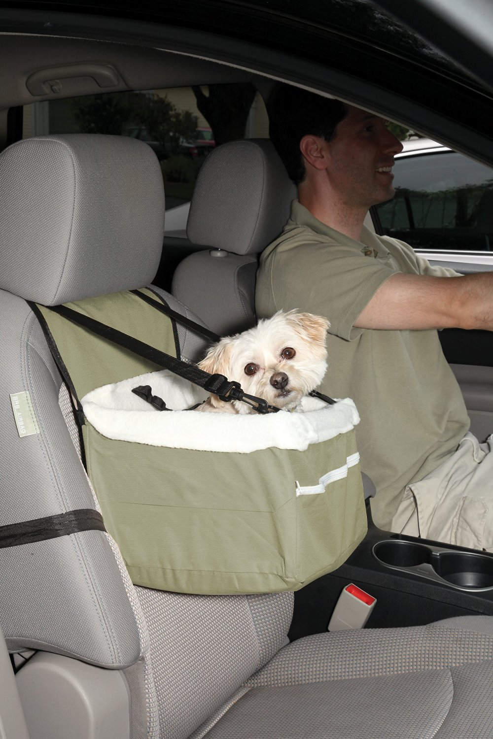Ideas In Life Portable Car Pet Booster Seat with Clip-On Safety Leash And Zipper Storage Pocket by Ideas In Life