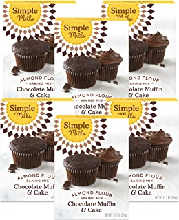 product image for Simple Mills Almond Flour Baking Mix, Gluten Free Chocolate Cake Mix, Muffin pan ready, Made with whole foods, 6 Count (Packaging May Vary)