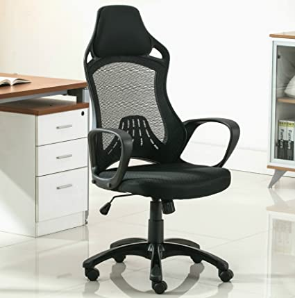 Merveilleux Anji High Back Mesh Office Desk Chair With Headrest And Arms