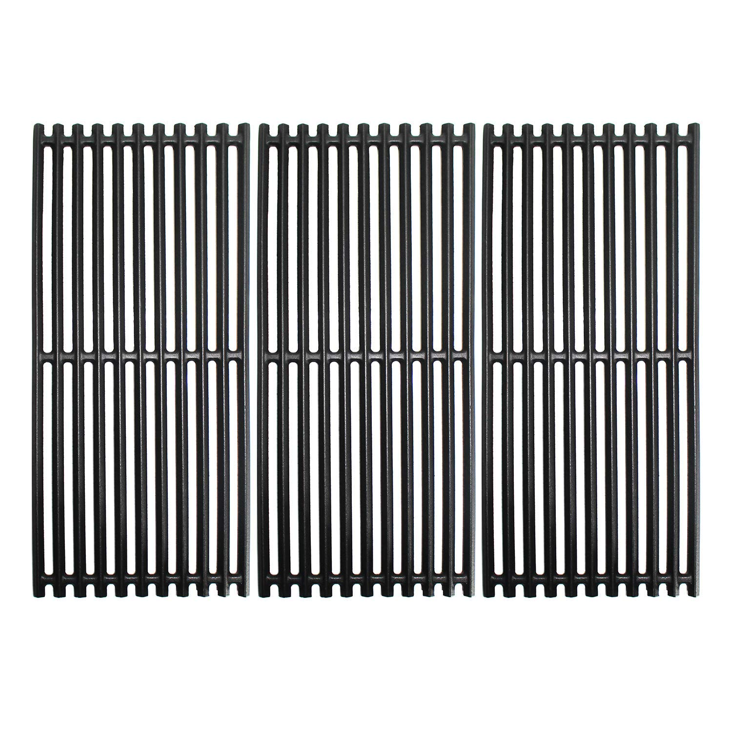 Grill Valueparts Grates for Charbroil 463241314, 463241313, 463247109, 466241313, 466241314, 466242014, 466242314, Tru-Infrared 3 Burner Grills - Matte Enamel Cast Iron Cooking Grates 18 1/4 x 24 3/4'' by Grill Valueparts