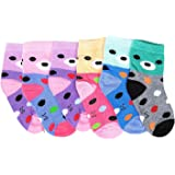 Krystle Prime Boy's|Girl's Printed Cotton Socks For Kids (Pack Of 6)-B079KCGQXL