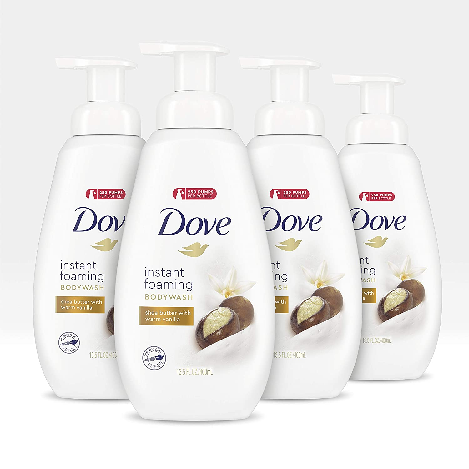 Amazon Com Dove Purely Pampering Body Wash With Nutriummoisture Technology Shea Butter And Vanilla Paraben Free Bodywash 13 5 Oz 4 Count Beauty
