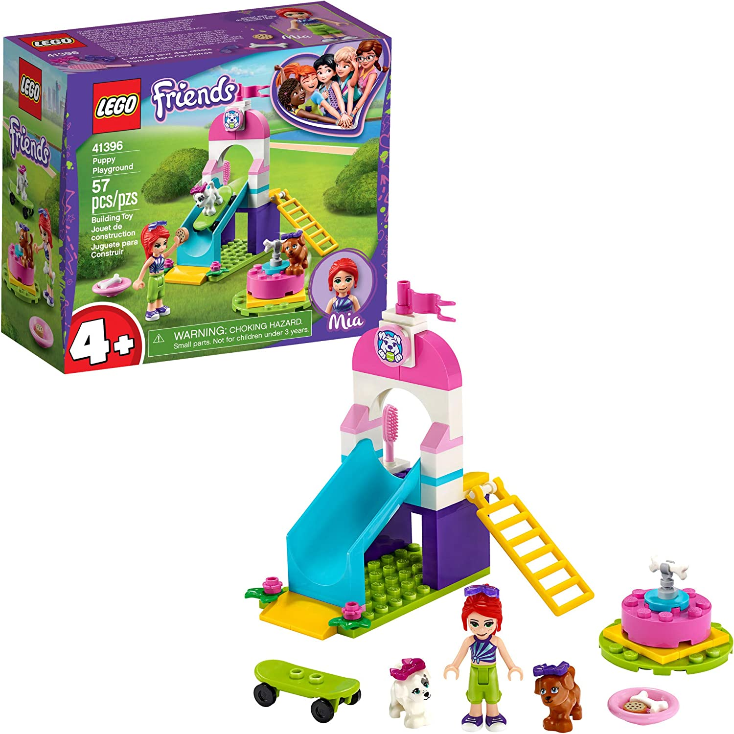 LEGO Friends Puppy Playground 41396 Starter Building Kit; Best Animal Toy Featuring Friends Character Mia, New 2020 (57 Pieces)