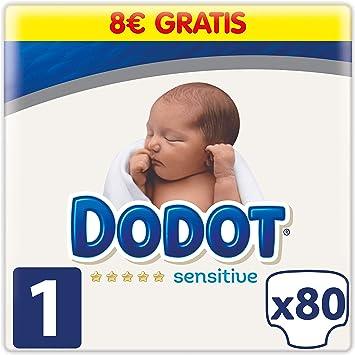Dodot Sensitive Pañales Talla 1, 80 Pañales, 2 a 5kg: Amazon.es: Salud y cuidado personal
