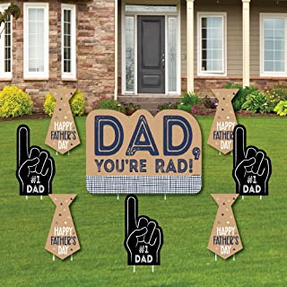 product image for Big Dot of Happiness My Dad is Rad - Yard Sign and Outdoor Lawn Decorations - Father's Day Yard Signs - Set of 8