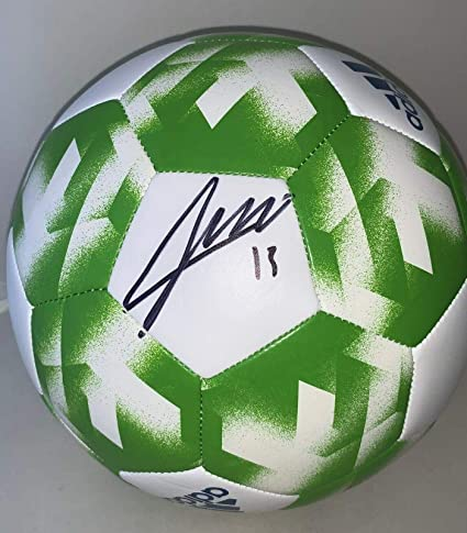 new style bb984 0d3bc Jordan Morris signed Seattle Sounders F S Full Size Logo Soccer Ball MLS -  Autographed Soccer Balls at Amazon s Sports Collectibles Store