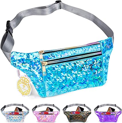 Travel Waist Pack,travel Pocket With Adjustable Belt Cute Unicorn On Pink Running Lumbar Pack For Travel Outdoor Sports Walking