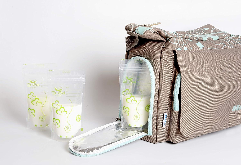 Bolsas de almacenamiento para conservar y congelar leche materna, 100 bolsas de leche materna preesterilizadas sin BPA, 210ml