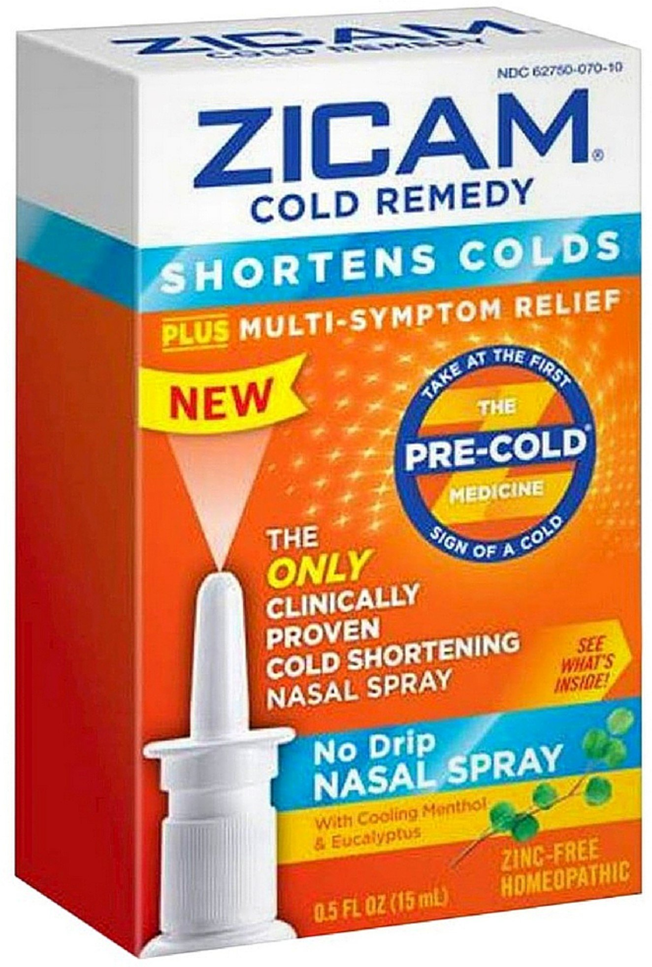 Zicam Cold Remedy No Drip Nasal Spray 0.50 oz (Pack of 9) by Zicam
