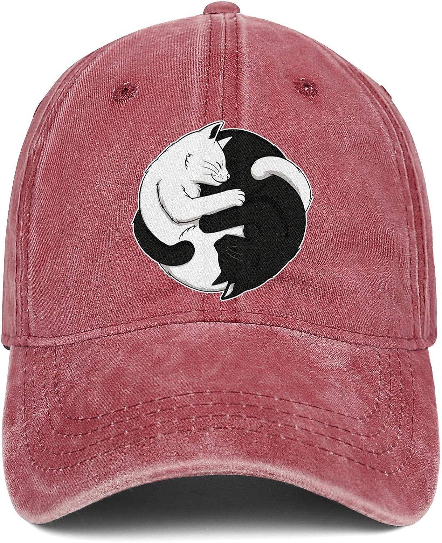 Yin Yang Sign Cats Logo Unisex Baseball Cap Summer Running Hats Adjustable Trucker Caps Dad-Hat