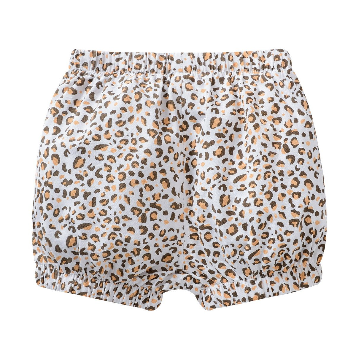 Wuawua Children Girl Shorts Leopard Grain Sweet Cotton Baby Bloomers Pant Size 12M-3T
