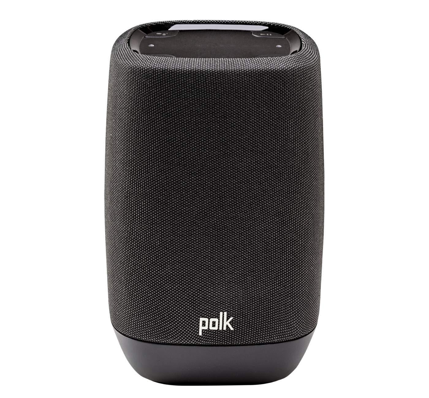 Polk Audio ASSISTUKBK Smart Speaker with Google Assistant Built-In – Midnight Black