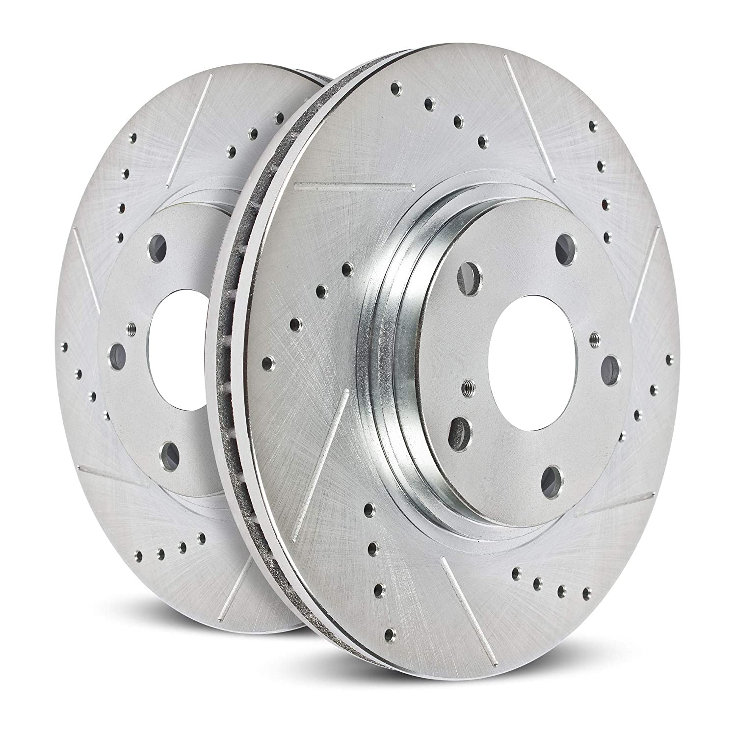 Power Stop JBR1747XPR Drilled and Slotted Rear Brake Rotor Pair
