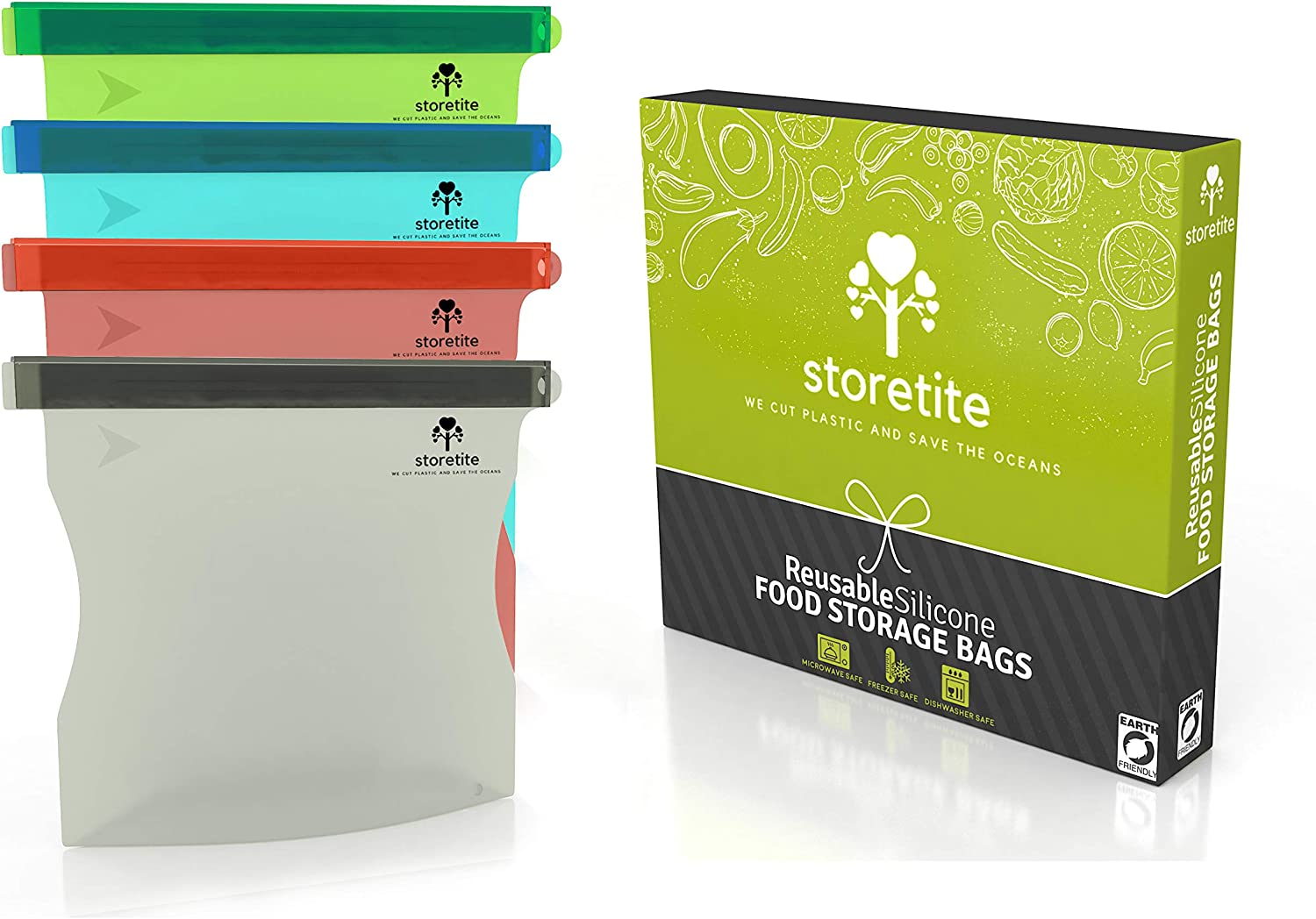 Storetite Reusable Silicone Food Bag