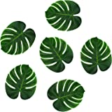 """Tropical Imitation Green Plant Paper Leaves 13"""" Hawaiian Luau Party Jungle Beach Theme Decorations for Birthdays, Arts & Crafts, Prom, Events, Weddings (6 Pack)"""