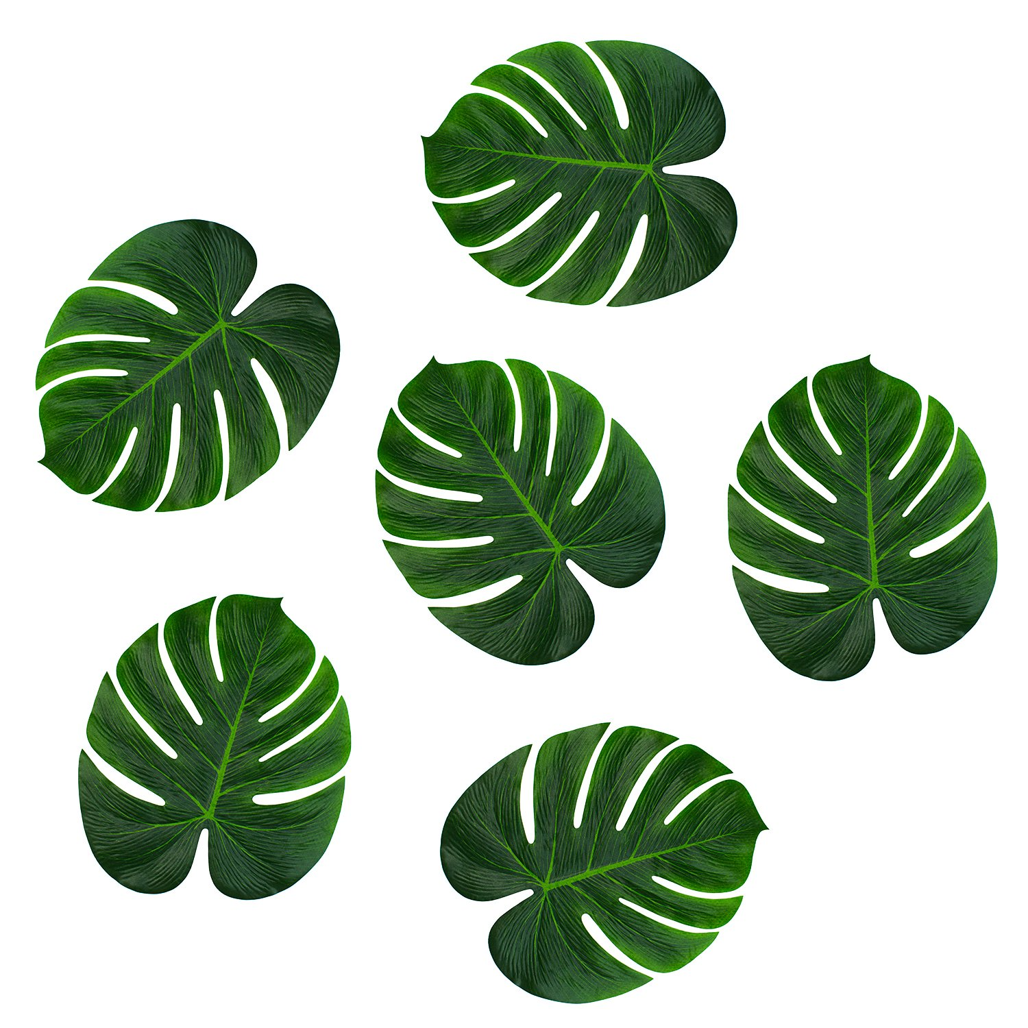 Amazon super z outlet tropical imitation green plant paper amazon super z outlet tropical imitation green plant paper leaves 13 hawaiian luau party jungle beach theme decorations for birthdays arts crafts izmirmasajfo