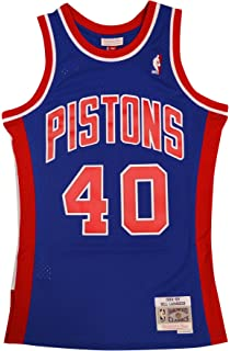 Mitchell & Ness Detroit Pistons Bill Laimbeer Swingman Jersey NBA Throwback Blue