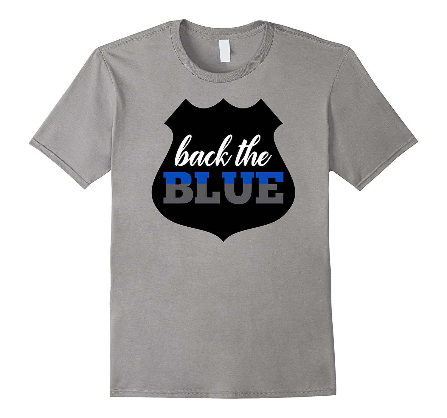 Back the Blue TShirt Police Officer Support Clothing Apparel-FL