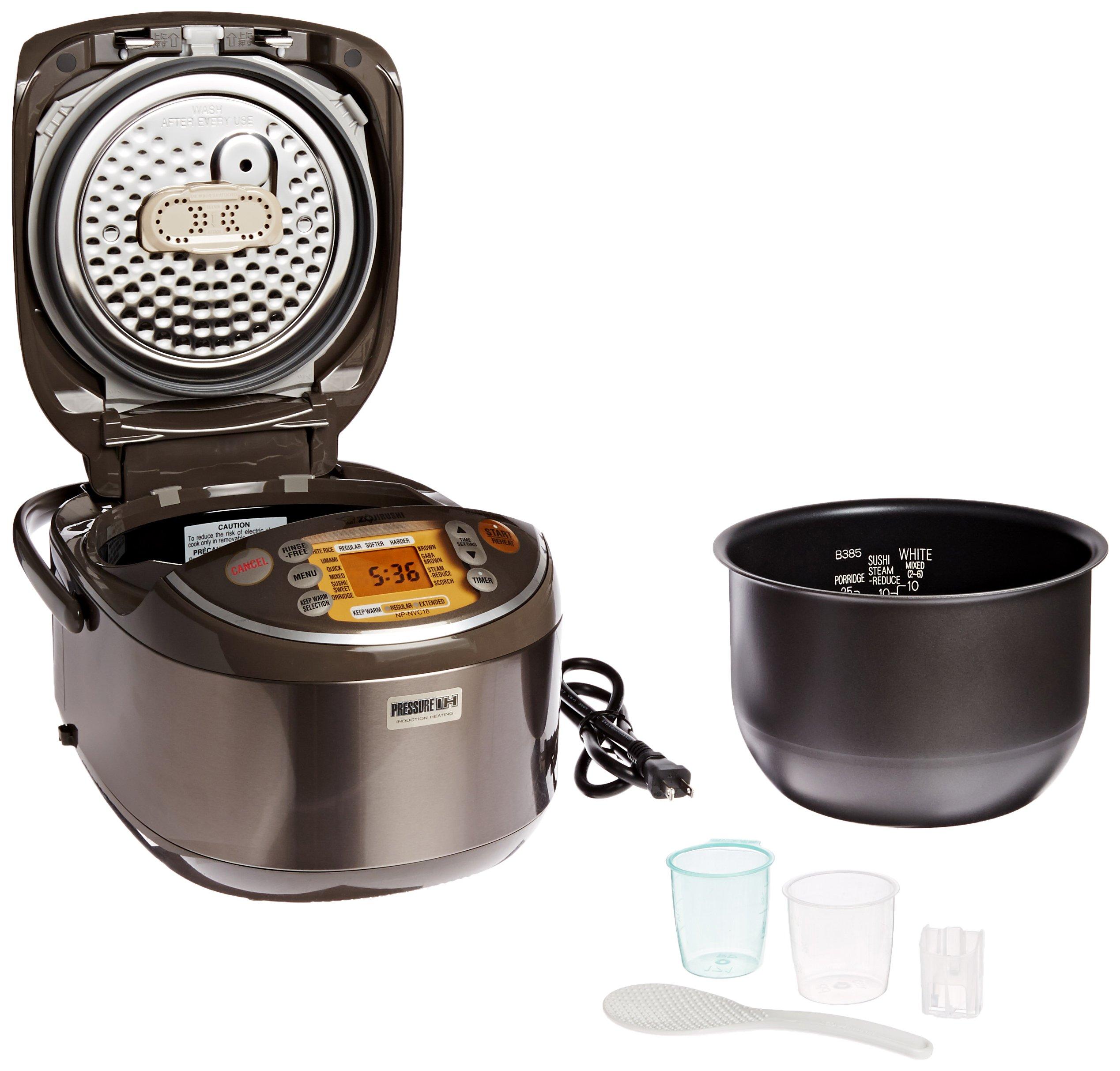 Zojirushi Induction Heating Pressure Rice Cooker & Warmer 1.8 Liter, Stainless Brown NP-NVC18 by Zojirushi (Image #4)