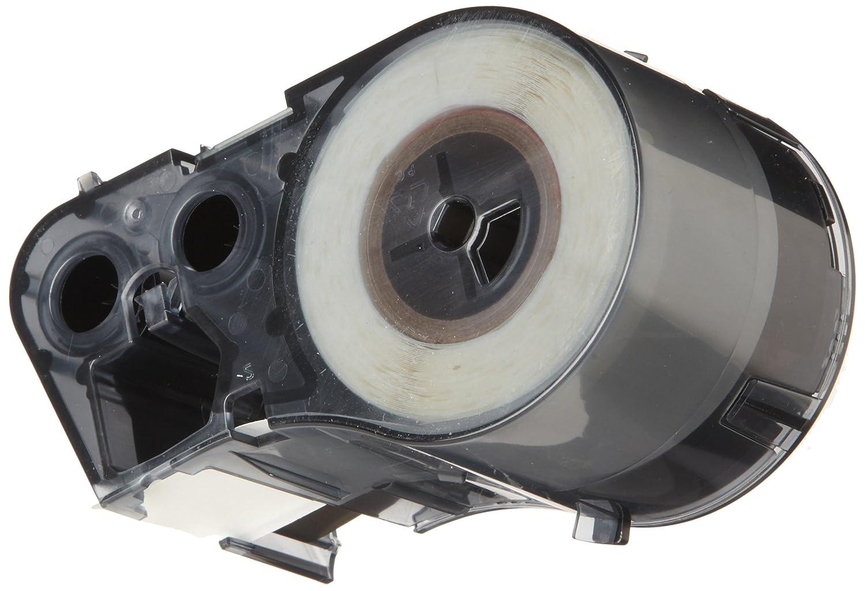 1 Width x 1 Height Brady M-151-499 Nylon Cloth B-499 Black on White Label Maker Cartridge For BMP51//BMP53 Printers