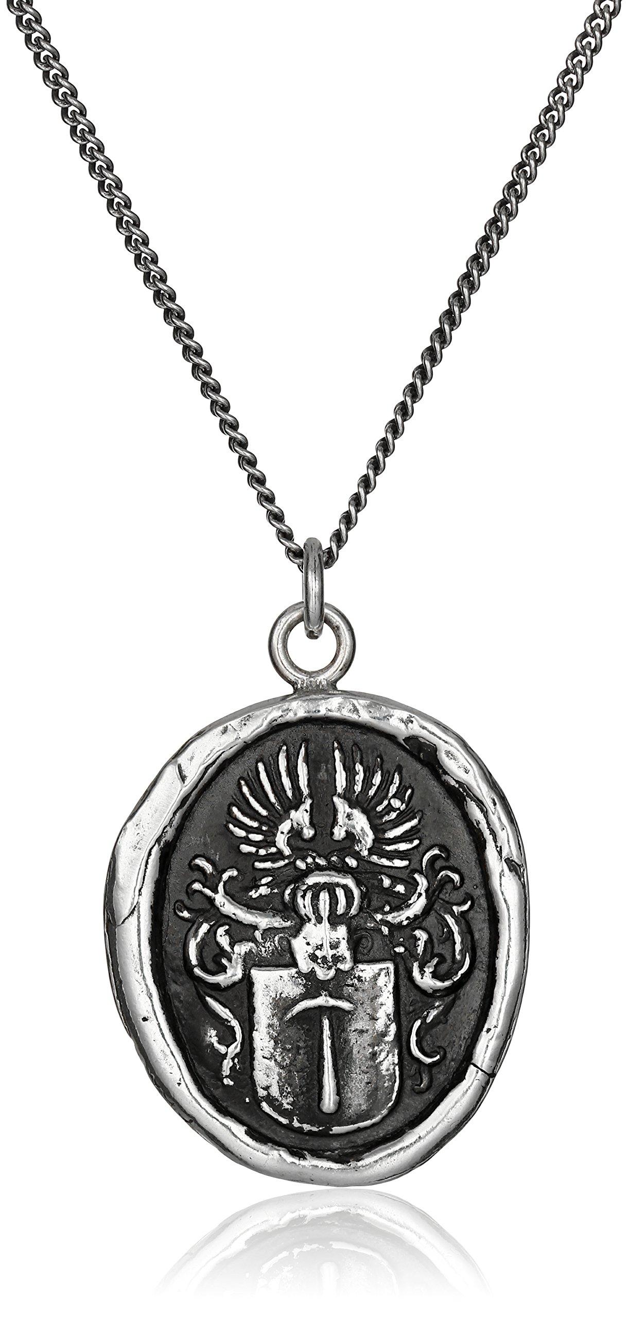 Pyrrha Talisman Men's Sterling Silver Defender Pendant Necklace, 22''
