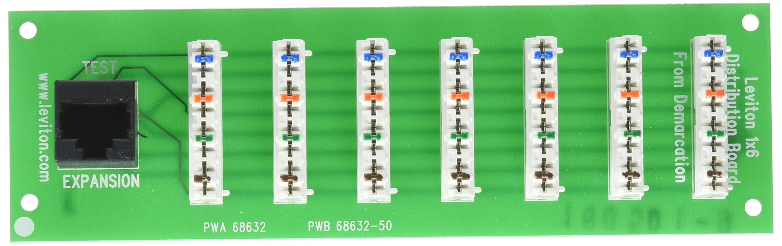 Leviton 47609-F6 1 x 6 Bridged Telephone Expansion Board (4 Lines to 6 Locations) by Leviton
