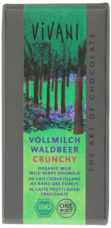 Amazon.com : Vivani Bio Vollmilchschokolade mit Waldbeer-Crunchy (100 g) : Grocery & Gourmet Food