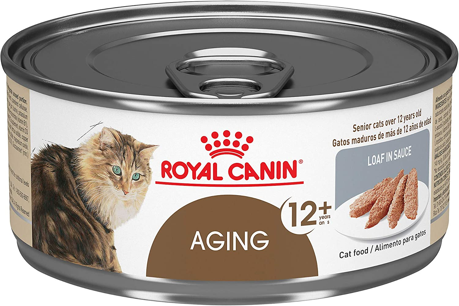 Royal Canin Feline Health Nutrition Aging 12+ Loaf In Sauce Canned Cat Food, 5.8 oz Can (Pack of 24)