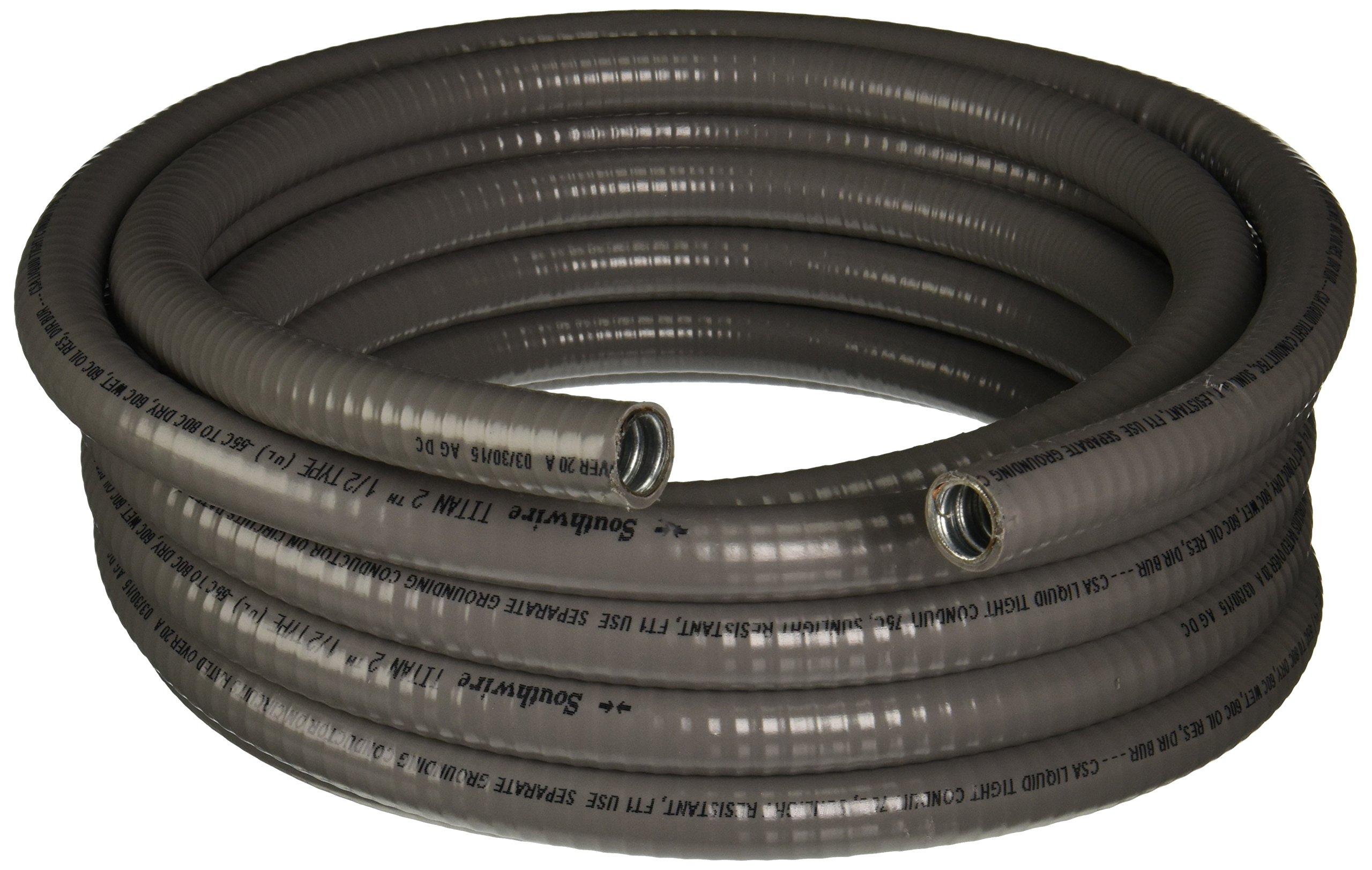 Southwire 55082621 Liqua Flex 1/2-Inch-by-25-Foot Flexible Liquidtight Metallic Conduit
